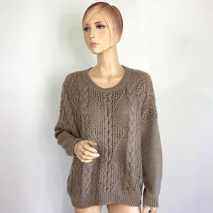 Charlotte Russe Cable Knit Sweater Large